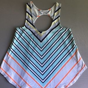 Colorful, striped tank top by Anthropologie